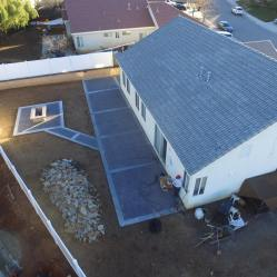 Aerial View - Back Patio Remodel