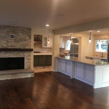 Wall Removal/Brand New Kitchen & Fire Place/ New Flooring